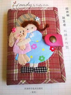 A. N. Craft: กระเป๋าเงินผ้า Applique