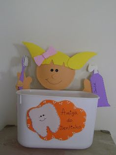 CANTINHO FRATERNO BLOG- ARTS AND CRAFTS: Dentista- Projetos de artesanato Toy Chest, Storage Chest, Toys, Blog, Furniture, Home Decor, Craft Projects, Faeries, Activity Toys