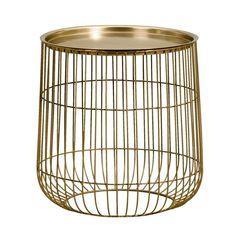 Bijzettafel Flaubert - goudkleur - 40x40 cm   Leen Bakker Furniture, Home Decor, Decoration Home, Room Decor, Home Furnishings, Home Interior Design, Home Decoration, Interior Design, Arredamento