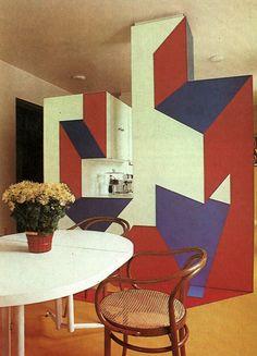 Terence Conran: trompe l'oeil kitchen partition, 1977