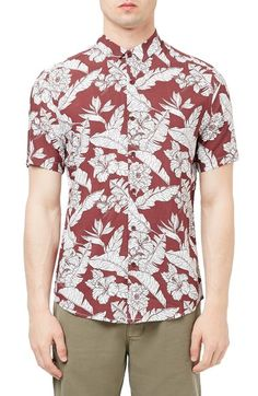 Topman Floral Print Shirt available at #Nordstrom