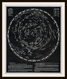 Antique Map  Stars and Constellations Chart  1953  by KnickofTime, $13.50
