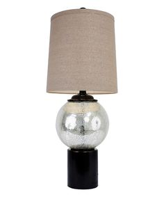 Look at this Silver Crackle Mercury Glass & Bronze Lamp on #zulily today!