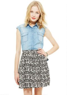 Cotton Floral Cinch Waist Skater - Skirts - Clothing - dELiA*s