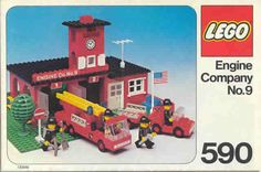 LEGO 590 Engine Company No. 9 instructions displayed page by page to help you build this amazing LEGO Rescue set Classic Lego, Classic Toys, Whitetail Deer Hunting, Lego Fire, Lego Boxes, Vintage Lego, Lego Design, Lego Parts, Lego Instructions