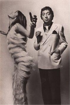 Jane Birkin et Serge gainsbourg,1970 by Guy Bourdin in 1970