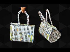 How to make a bag using newspaper | Newspaper Purse | Art with Neha 99 - YouTube