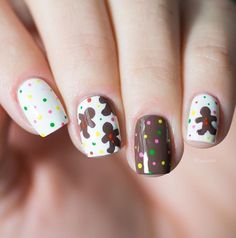 Awesome Winter Nails Ideas You need to Try Holiday Nail Art, Winter Nail Art, Winter Nails, Spring Nails, Winter Makeup, Fancy Nails, Love Nails, Nail Polish Art, Brown Nails
