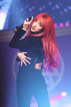 Red Hair Korean, Korean Girl, Exid Kpop, Ahn Hani, Korean Beauty, K Idols, Memes, Kpop Girls, Hot Pink