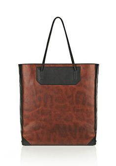 PRISMA TOTE IN STAINED LEOPARD WITH MATTE BLACK - Alexander Wang