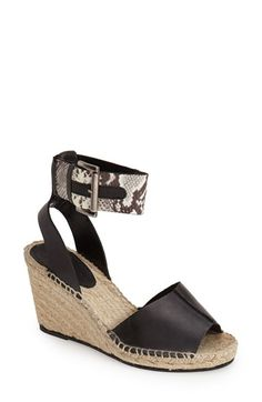 Charles David 'Ofilia' Ankle Strap Espadrille Wedge (Women) available at #Nordstrom