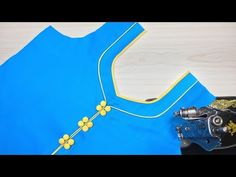 Beautiful Kurti Neck Design Cutting and Stitching Blouse Back Neck Designs, Churidhar Neck Designs, Neck Designs For Suits, Sleeve Designs, Blouse Designs, Salwar Kameez Neck Designs, Churidar Designs, Kurta Neck Design, Designer Kurtis