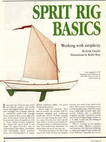 Every project involves some research - this article provides a good background on the sprit rig. Wooden Boat Building, Boat Building Plans, Sailboat Plans, Wooden Sailboat, Folding Boat, Ship In Bottle, Sailing Dinghy, Outrigger Canoe, Boat Projects