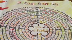 The Art of Thelogical Reflection: mixed media. ||  find a blank prayer labyrinth. In your prayer time as you begin the labyrinth- write down those things you're praying for.   Words, phrases, situations, people, organizations, etc.