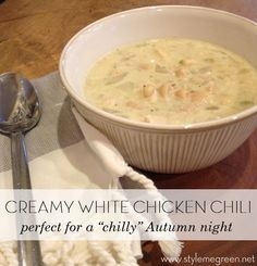 WHITE CHICKEN CHILI RECIPE - In the crock pot, or not