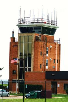 """Control tower at Chicago/Rockford Int'l Airport. I remember when it was an insult to have """"Chicago"""" in any business names here."""