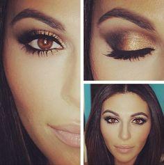 Gold eye makeup-good for brown eyes