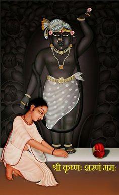 Kala Kshetram — Sri Nathaji (Krishna) and devotee Krishna Leela, Bal Krishna, Krishna Statue, Jai Shree Krishna, Cute Krishna, Krishna Art, Krishna Painting, Radha Krishna Love Quotes, Radha Krishna Pictures