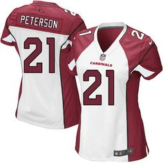Women s Nike Arizona Cardinals  21 Patrick Peterson Elite White Jersey 913ccd73e7