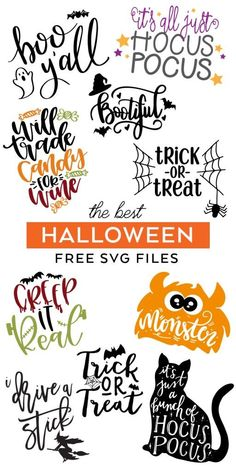 FREE Halloween SVG Cut Files – Make Easy Halloween Crafts with the best Halloween SVG Files curated by Pineapple Paper Co. FREE Halloween SVG Cut Files – Make Easy Halloween Crafts with the best Halloween SVG Files curated by Pineapple Paper Co. Halloween Designs, Halloween Tags, Diy Halloween Shirts, Image Halloween, Easy Halloween Crafts, Theme Halloween, Halloween Decorations, Halloween Horror, Halloween Recipe