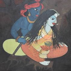 Divine by Purvii Parekh Krishna Painting, Krishna Art, Indian Artist, Top Artists, Online Painting, Paintings, Anime, Couple, Paint