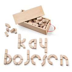 Kay Bojesen - Alphabet-Holzbausteine - Einzelabbildung