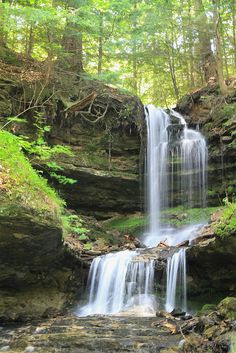 Horseshoe Falls, Munising, Michigan - what beauty the Upper Peninsula holds.