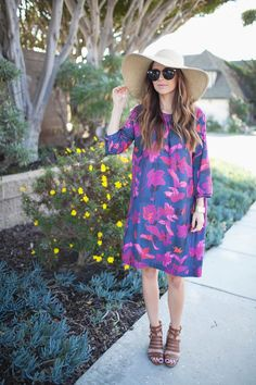 Merrick's Art // Style + Sewing for the Everyday Girl: DIY FRIDAY: TROPICAL FLORALS + BOXY SHIFT DRESS TUTORIAL