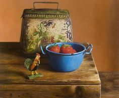 Rooster and biscuit tin.     Herman Tulp