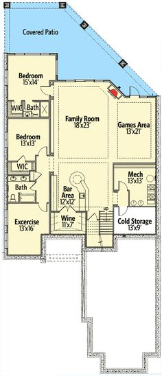 Second Floor In-Law Suite - 81662AB | 1st Floor Master Suite, Butler Walk-in Pantry, CAD Available, Canadian, Den-Office-Library-Study, European, In-Law Suite, MBR Sitting Area, Media-Game-Home Theater, PDF, Sloping Lot | Architectural Designs