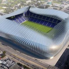Rendering for a proposed MLS stadium in Miami