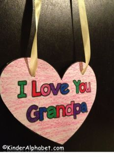 Free Grandparents Day Necklace From Kinderalphabet Com Art