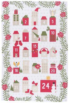 Now Designs Advent Calendar Tea Towel: Amazon.ca: Home & Kitchen