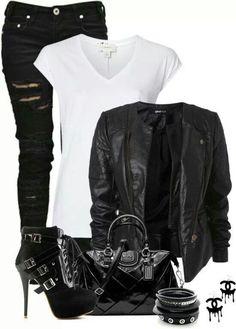 Black & White Rocker Chic