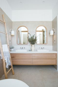 Kyal and Kara have project managed, designed or completed over 25 renovation projects. Bathroom Design Inspiration, Bad Inspiration, Bathroom Interior Design, Coastal Bathrooms, Modern Bathroom, Small Bathroom, Natural Bathroom, Beach House Bathroom, Laundry In Bathroom