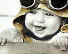 Baby Pilot by Kim Anderson What a cutie. So Cute Baby, Baby Kind, Baby Love, Cute Kids, Cute Babies, Anne Geddes, Beautiful Children, Beautiful Babies, Beautiful Smile
