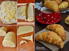 Réteges sajtos-vajas kifli - dagasztás nélkül