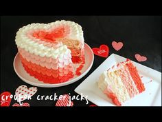 Pink Ombre Heart Cake for Valentine's Day!! an absolutely amazing idea for valentines. fun and easy to decorate yet looks like you spend hours and hours on making.