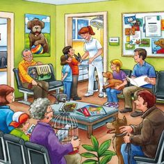 Typically there are stories that accompany each illustration. Speech Language Therapy, Speech And Language, Speech Therapy, Picture Story Writing, Picture Writing Prompts, English Lessons, Learn English, Communication Orale, Picture Comprehension