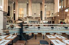 Chocolate Buddha Melbourne Japanese Restaurant, Federation Square Interior Design Awards, Cool Cafe, Hospitality Design, Cafe Design, Design Consultant, Retail Design, Restaurant Design, Buddha, Architecture