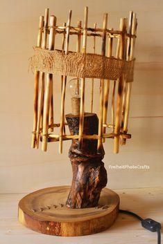 "Lampada in legno stile natural/grunge ""Zombie"". -Natural/grunge style ""Zombie"" woodenlamp.  #etsy #handmade #homedecor #etsyshop #crafts #wood #woodenlamp #madeinitaly #home #decor #fattoamano #legno #arredamento #woodworking #furniture #casa"