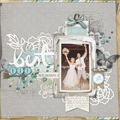 beyond fabulous #wedding #scrapbook page by Kayleigh at DesignerDigitals #shopDesignerDigitals