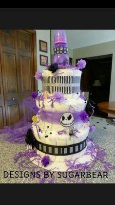 Attractive Nightmare Before Christmas Diaper Cake