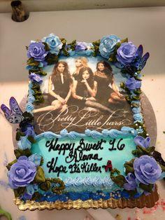Pretty Little Liars cake. 12th Birthday Cake, Sweet 16 Birthday Cake, 21st Birthday Invitations, Birthday Cakes For Teens, Themed Birthday Cakes, Birthday Parties, Birthday Ideas, Pretty Litle Liars, Teen Cakes