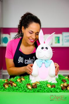 This week, I'm caking the EASTER BUNNY to life - filled with FOUR different Cadbury Creme Egg flavours! Visit HowToCakeIt.com to see the FULL RECIPE!