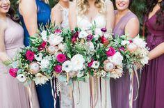 plum anemone bouquets