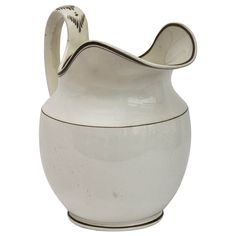 Large 19th Century English Creamware Jug | From a unique collection of antique and modern pitchers at http://www.1stdibs.com/furniture/dining-entertaining/pitchers/
