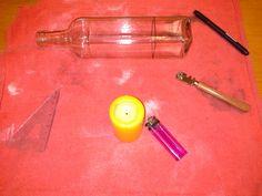 Cortando vidrio: 2 técnicas, cortavidrio y alcohol