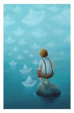 Where The Paper Boats Sail by pesare.deviantart.com on @deviantART
