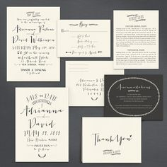 A Printable Press - Modern Calligraphy Invitation